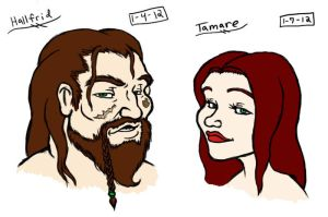 Hallfrid and Tamare by LunaKitty2006