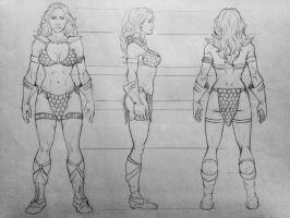 Red Sonja - model sheet by cristianosuguitani