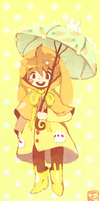Bunny Raincoat by Teatime-Rabbit