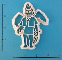 Custom Flying Monkey Cookie Cutter by WarpzonePrints