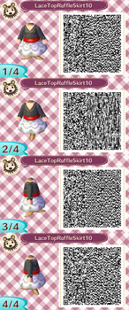 Lace Top Ruffle Skirt Red QR Code by ChibiBeeBee