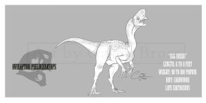 Oviraptor philoceratops by BlueCea