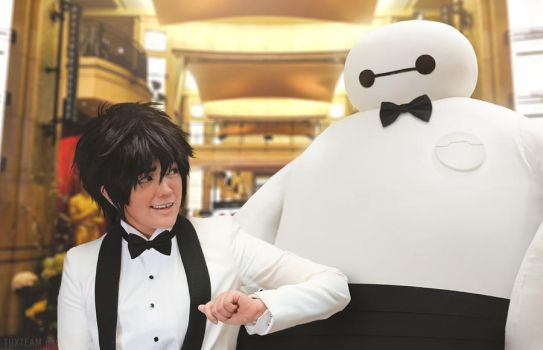 Big Hero 6: Hiro and Baymax at the Oscars by behindinfinity