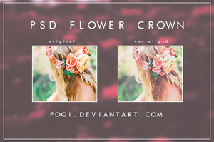 {PSD ''Flower Crown''} by Poqi
