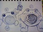 Poliwag#60, Poliwhirl#61, Poliwrath#62 by PsychoBerries