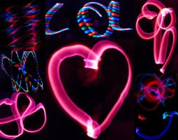 light-painting collage by Davibowenyphselt