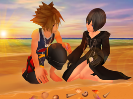 Collecting Seashells Together by SorasPrincesss