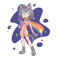 Nyan Cat Girl by MewMartina