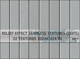 Relief effect seamless textures (dots) by jojo-ojoj