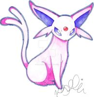 Espeon by Kellalizard