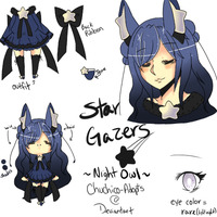 Rare Star Gazer auction - night owl [closed] by Chuchico-Adopts