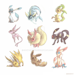 Eeeveelutions stickers (updated) by Sony-Shock
