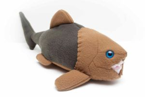 Dunkleosteus in Green and Tan by Paleogirl