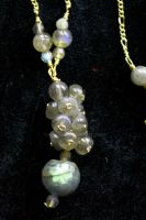 Labradorite Cluster Necklace 2 by BenaeQuee