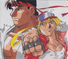 fatal fury/ street fighter 2  anime by Amanoobaricom