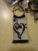 Music Keychain by TheMagentaCrayon