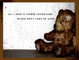 sad teddy by l0v3M3