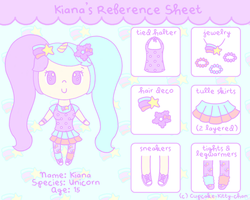 Kiana's Reference Sheet by Cupcake-Kitty-chan