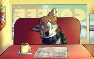 Boy its cold out there- by DogFwish