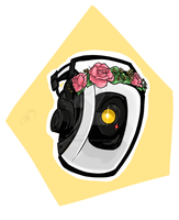 Flower Crown GLaDOS by AvocadoChell