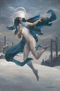 Shelegiel, Angel of Snow by PeteMohrbacher