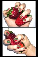 strawberries by absurdabsurd