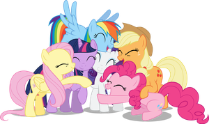 Mane Six Group Hug S5 by TechRainbow