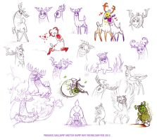 Massive Gallomp Sketch Dump by Kat-Nicholson