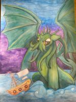Cthulu Pony ~Watercolor by SavageClover