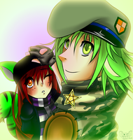 Zee and Flippy by ShadeHellsing