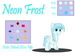 Requested OC Drawing - Neon Frost by deltafairy
