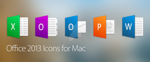 Office 2013 Icons for Mac OSX by MagWhiz