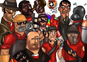 TF2 The red team by danwolf15