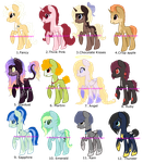 100 Pony Themes Challenge 1 OPEN by ErisuAdopts