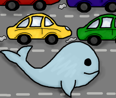 Like a whale trying to swim down the motorway by Bluesheepy