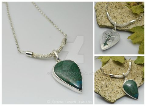 Parrot Stone Pendant, with Viking knit clasp by WallaceReg
