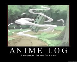 Anime Log demotivational by randomgibberish