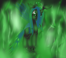 Changeling Queen Chrysalis by goldenmercurydragon