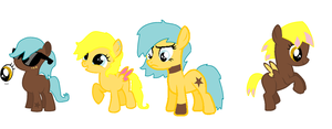 Sunburst and Cupcake breed adopts by Dib-the-survivor