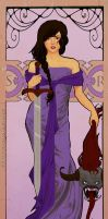 Reyna in art nouveau by You-burn-with-us
