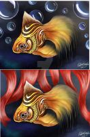 Golden Fish by FadwaAngela