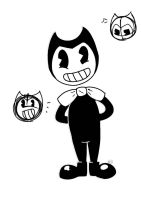 Bendy (and two sketches i made of Bendy) by RadioControl