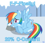 Rainbow Dash Gets Cooler by Megamag