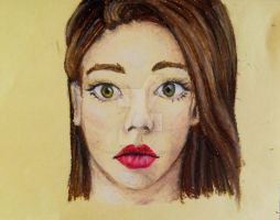 Oil Pastel Girl by CarliRainbow
