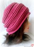 Ribbed slouchy hat by MinaThomas