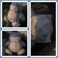 Papercraft Slowpoke Doll by giraffesonparades