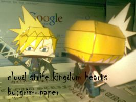 cloud strife kingdom hearts pc by Grim-paper