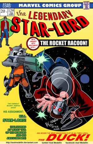 TLIID 244_Rocket and Star-Lord in Spider-Man 129 by AxelMedellin