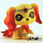 Nuria the Fire Guardian custom LPS by thatg33kgirl
