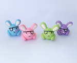 Eyepatch Bunny Miniature Set by MariposaMiniatures
